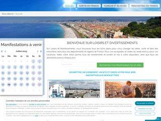 screenshot http://www.loisirs-divertissements.com Loisirs et divertissements