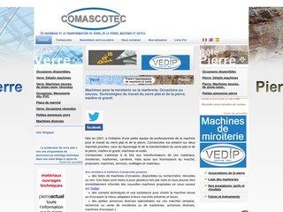 screenshot http://www.machines-verre-pierre.com Comascotec : le façonnage du verre et de la pierre