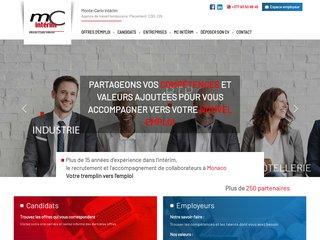 screenshot http://www.mcinterim.mc Monte-carlo interim : monaco