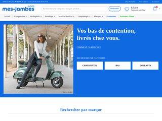 screenshot http://www.mes-jambes.com Lyon medical service produits de contention
