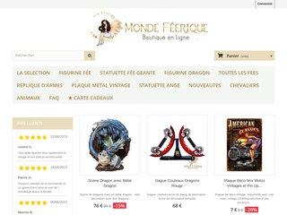 Monde Féérique, boutique en ligne de Fées