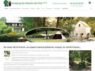 Camping Moulin De Piot 3 étoiles à Cheniers