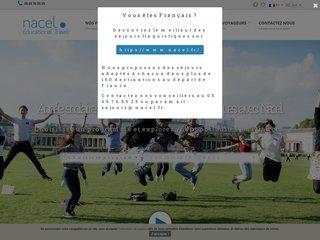screenshot http://www.nacel.org/fr/home.php Séjours linguistiques nacel