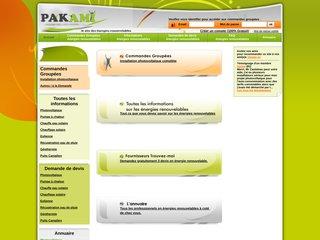 screenshot http://www.pakami.fr Pakami.fr