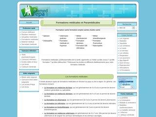 screenshot http://www.paramed-prepa.com/offre-emploi-sante.html Emploi sante