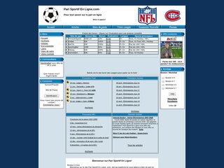 screenshot http://www.pari-sportif-enligne.com Pari sportif en ligne.com