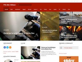 screenshot http://www.prix-metaux.com/