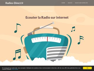 screenshot http://www.radios-direct.fr/ Ecouter la radio en direct - webradio
