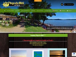 Camping Sarl Mari Chalets/Plage Du Midi 3 étoiles à Montsauche Les Settons