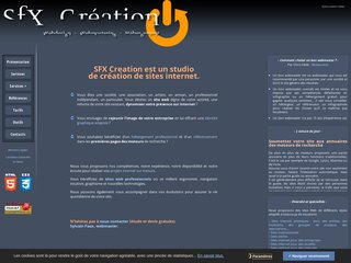 SFX Création - Tarif création de site