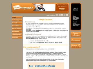 screenshot http://www.stage-vacance.fr Stages vacances