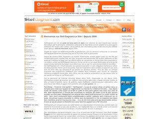 screenshot http://www.stefgagnant.com Stef gagnant le site