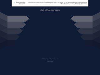 screenshot http://www.style-et-harmony.com Style  harmony  : conseil en image et formation
