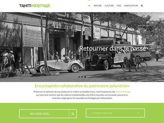 screenshot http://www.tahitiheritage.pf Nature et culture de tahiti et ses îles