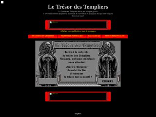 screenshot http://www.templiers.free.fr 1190 le trésor des templiers