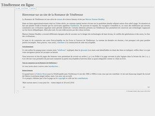 Encyclopédie francophone de TénébreuseMiniature par Apercite.fr