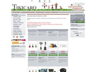 screenshot http://www.tikicaro.fr Tikicaro, des idées cadeaux