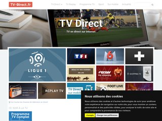 screenshot http://www.tv-direct.fr/ Webtv - regarder des chaines tv en direct