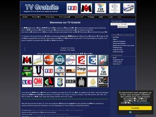 screenshot http://www.tv-gratuite.com Tv gratuite - regarder la télévision gratuitement