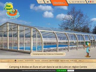 Camping Parc De Loisirs Le Val Fleuri 4 étoiles à Cloyes Sur Le Loir