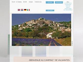 Camping De Valsaintes 2 étoiles à Simiane La Rotonde
