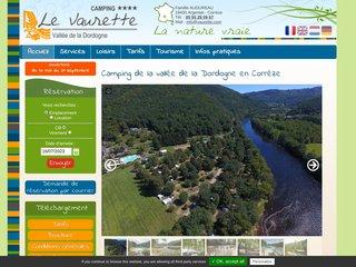 Camping Le Vaurette 4 étoiles à Monceaux Sur Dordogne