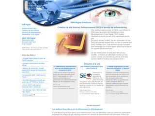 screenshot http://www.vdp-digital.com Vdp-digital référencement et webmastering