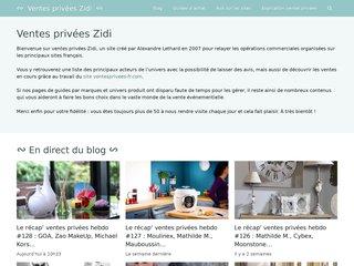 screenshot http://www.ventes-privees-zidi.fr/ Vente privée