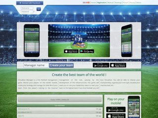 Jeu de football en ligne - Virtuafoot Manager