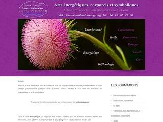 screenshot http://www.voilearcenciel.fr/ Formations au reiki et approches énergétiques