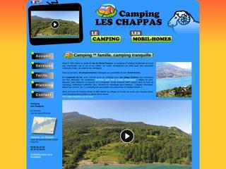 Camping Les Chappas 2 étoiles à Pontis