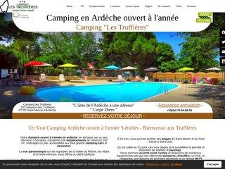 Camping Les Truffières 3 étoiles à Saint-Marcel-D'Ardèche