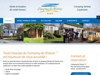 Camping De L'Estran 3 étoiles à Zuydcoote