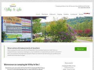 Camping De Villey Le Sec 3 étoiles à Villey-Le-Sec