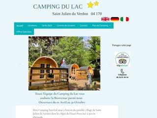 Camping Du Lac 2 étoiles à Preigney