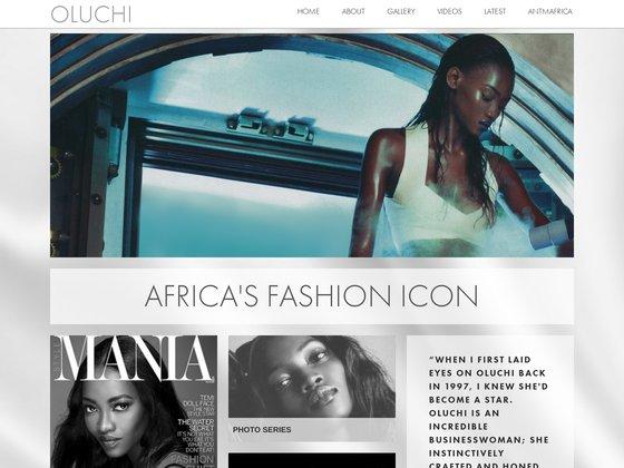 Screenshot of Oluchi Onweagba official website