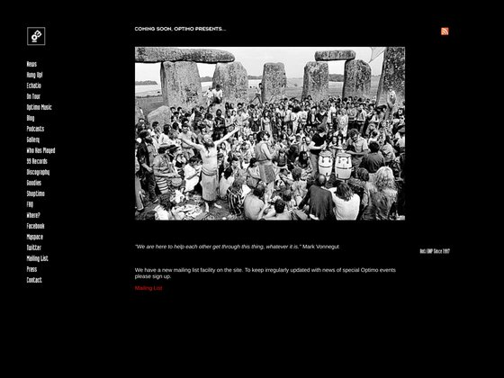 Screenshot of Optimo official website