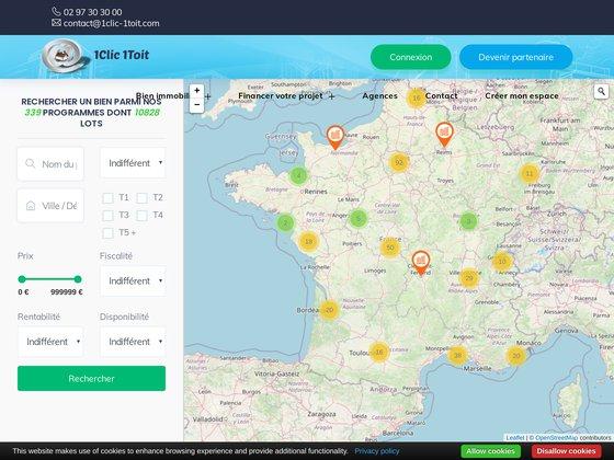 1Clic-Toit : le portail de l'immobilier neuf en France