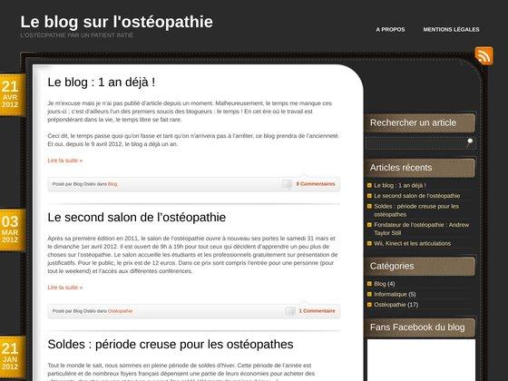 Blog dévoué à l'ostéopathie