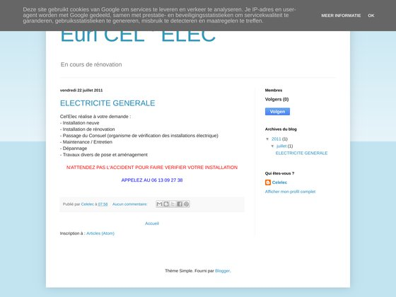 Entreprise cel'elec - électricité générale