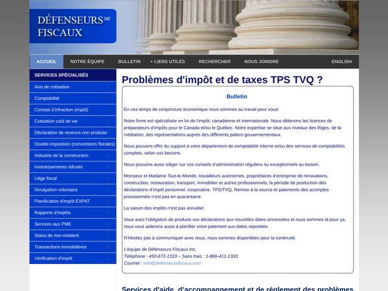Comptables fiscalistes | Canada