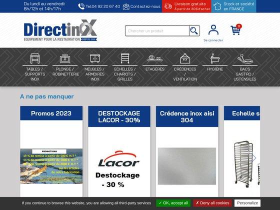 Directinox.com la référence de l'inox pour la restauration