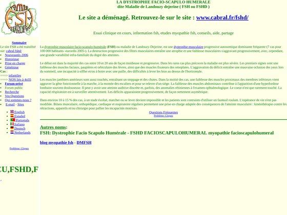 Myopathie Facio Scapulo humérale : FSH