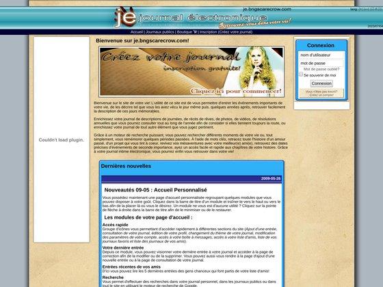 je, journal électronique - plus qu'un journal intime! un moteur de recherche pour votre vie!