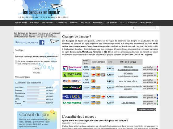 Les banques en ligne : comparatif, avis, conseils