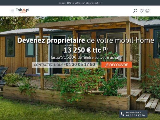 Achat et vente de mobil home sur camping