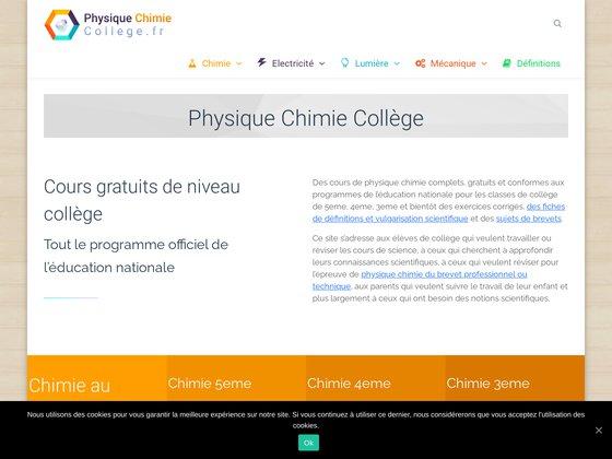 Cours de sciences physiques