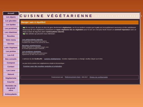 Cuisine vegetarienne,SOS BOUFFE - Comment se nourrir sans vi