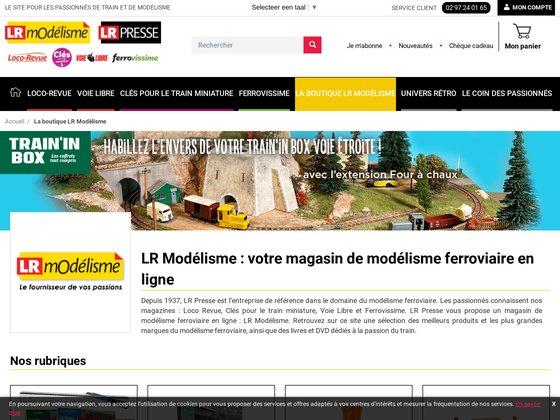 LR Modélisme, la boutique de modélisme ferroviaire