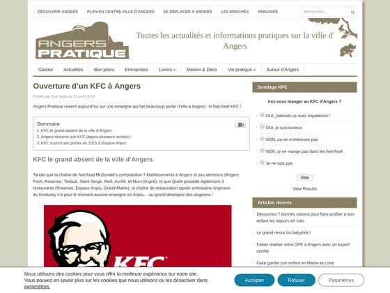 L'arrivée du fast-food KFC à Angers